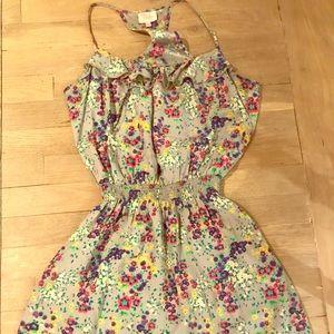 Parker Silk Flowery Dress Racerback